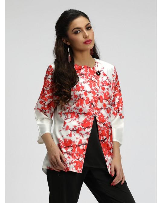 Sienna Cherry Blossom Print Jacket