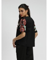 Aviani Garden Flower Print Blouse
