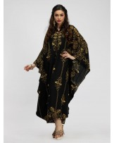 Golden Ikhat Kaftan Dress