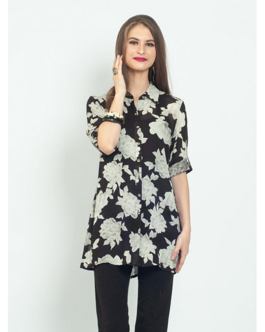Ayana Floral Shade Tunic Shirt