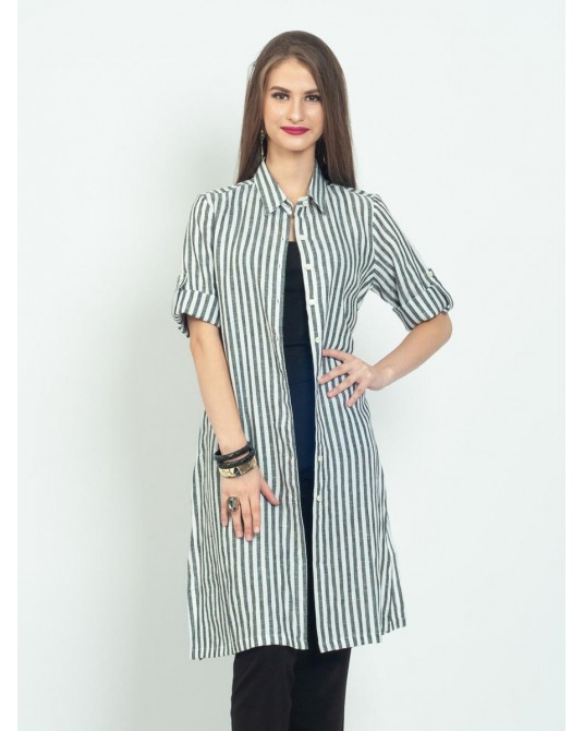 Ayana Stripes Tunic Shirt