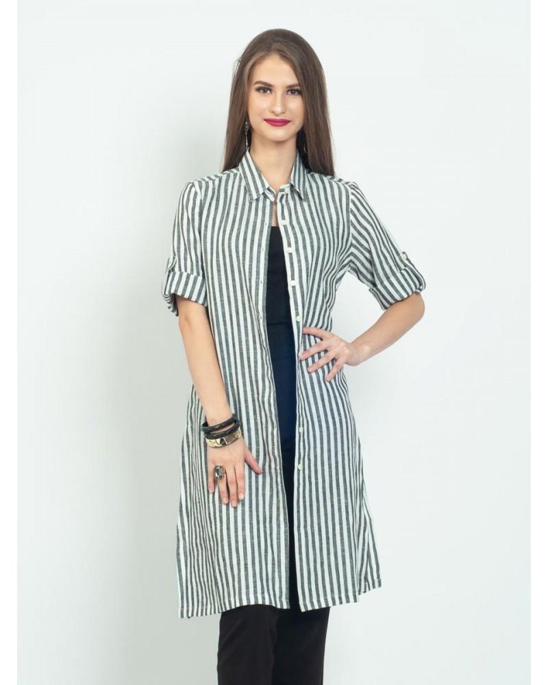 Ayana Stripes Tunic Shirt