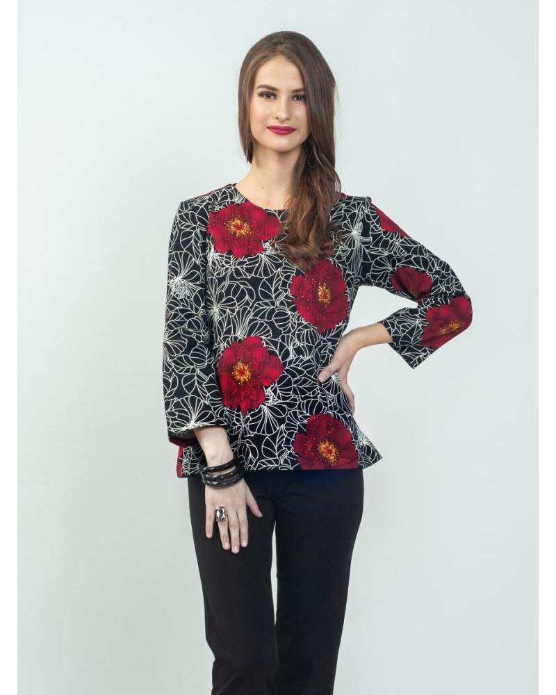Clover Peony Bloom Blouse