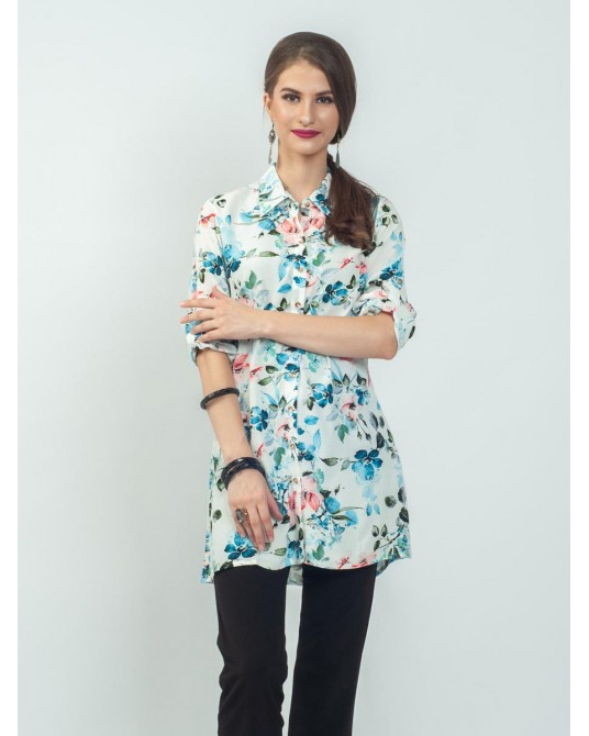 Ayana Mix Flower Tunic Shirt