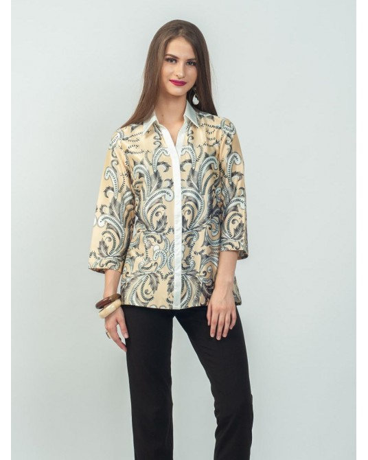 Ayana Golden Paisley Shirt