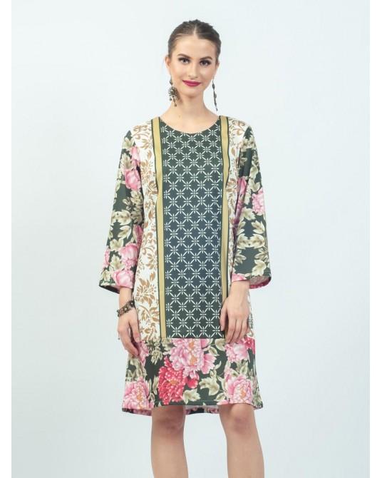 Mimosa Peony Winter Dress
