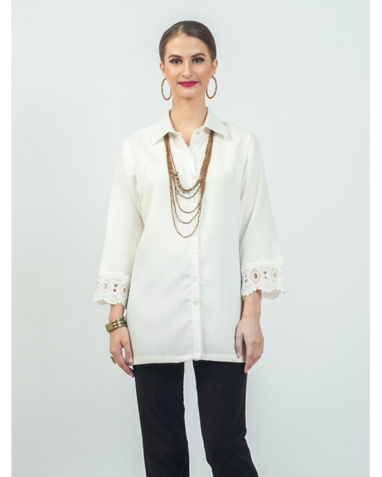 Maxima Lace Sleeve Shirt