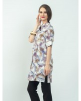 Ayana Lilac Feathers Tunic Shirt