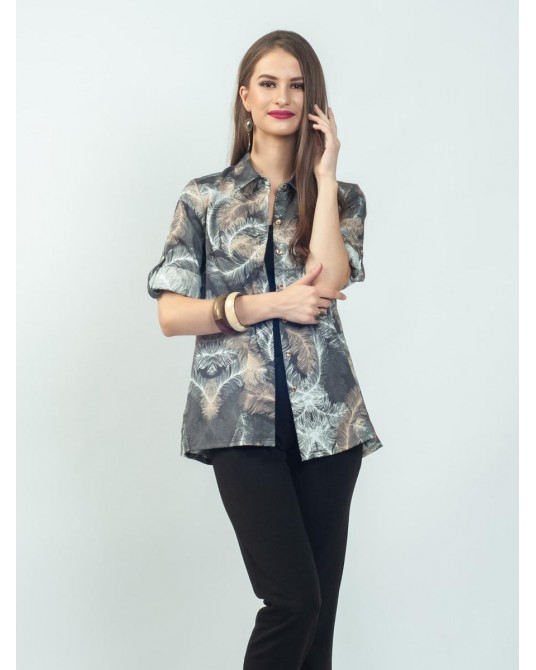 Fiore Grey Feathers Shirt