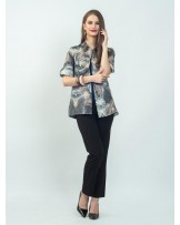 Fiore Gray Feathers Shirt