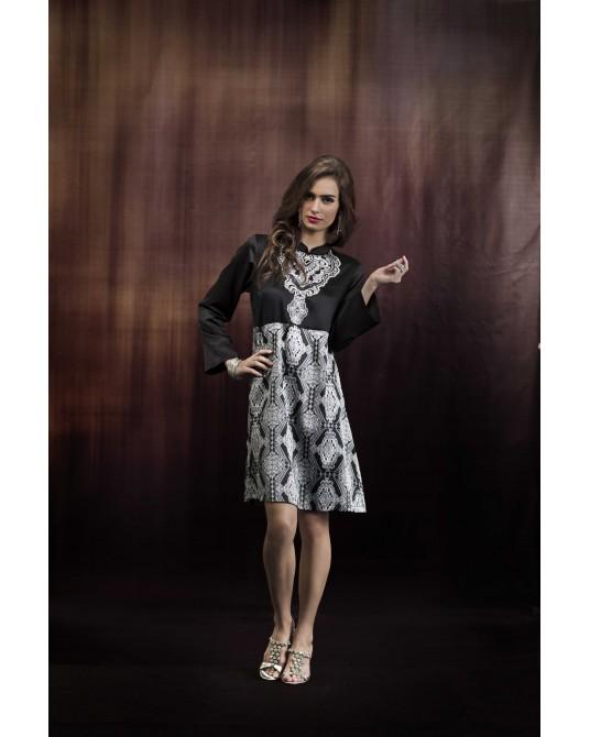 Mimossa Geometric Pailsey Print Dress