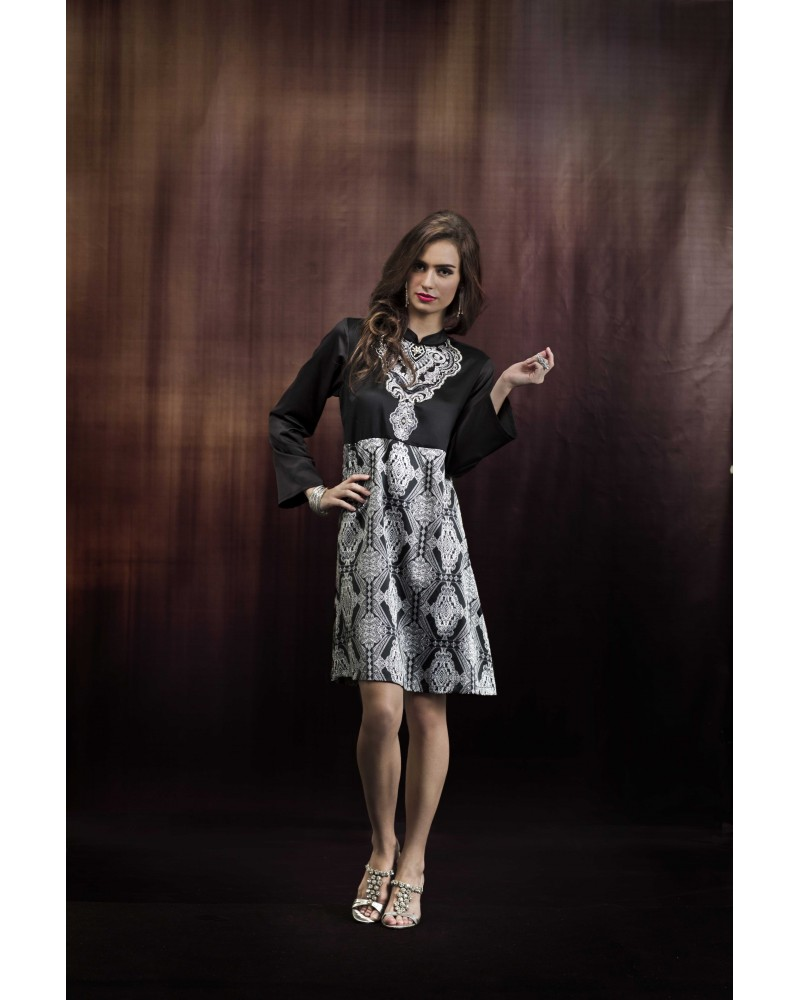 Clio Geometric Pailsey Print Dress