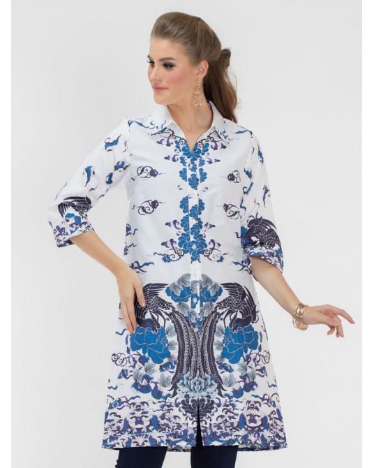 Blossom Phoenix Print Shirt