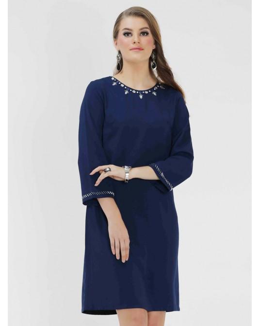 Malika Prussian Dark Dress